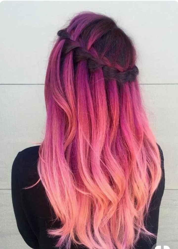 Voici quelques coiffures de mariées aux cheveux colorés - 19