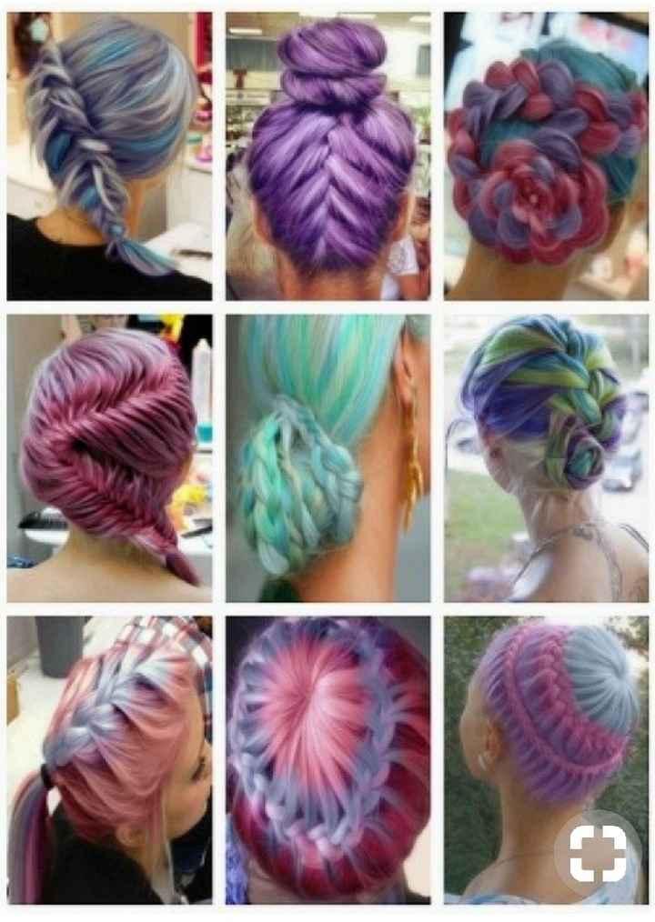 Voici quelques coiffures de mariées aux cheveux colorés - 27