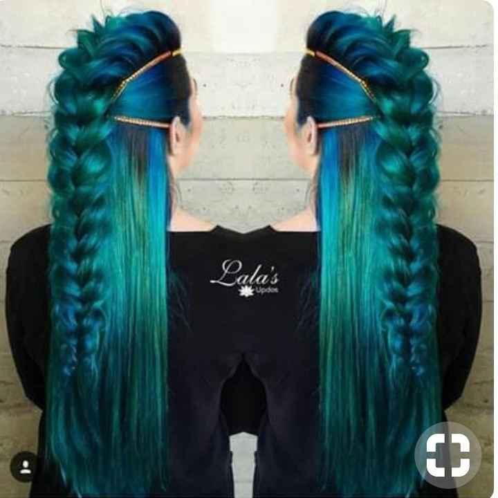 Voici quelques coiffures de mariées aux cheveux colorés - 28