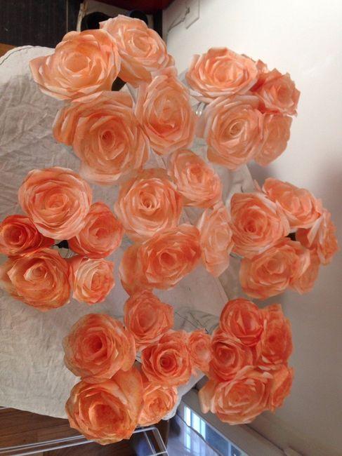 mes fleurs en papiers filtre 2