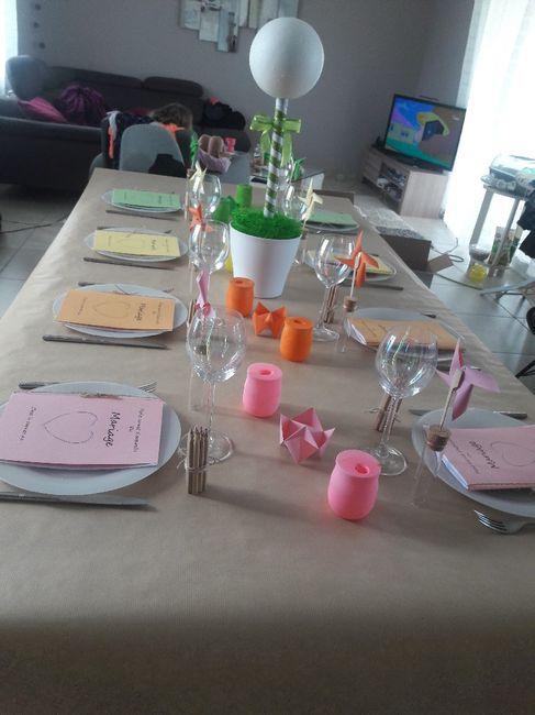 Essai de la decoration de la table des enfants 1