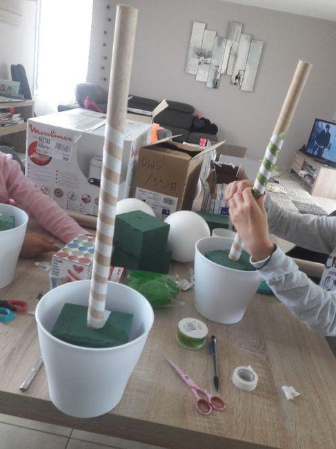 Essai de la decoration de la table des enfants 3