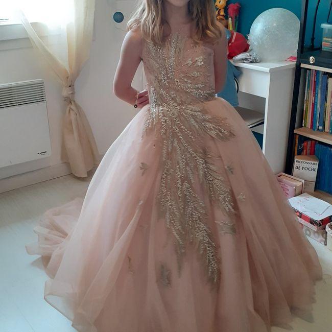 Robe de cérémonie fillette 8 ans 3