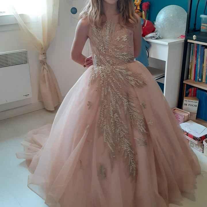 Robe de cérémonie fillette 8 ans - 1