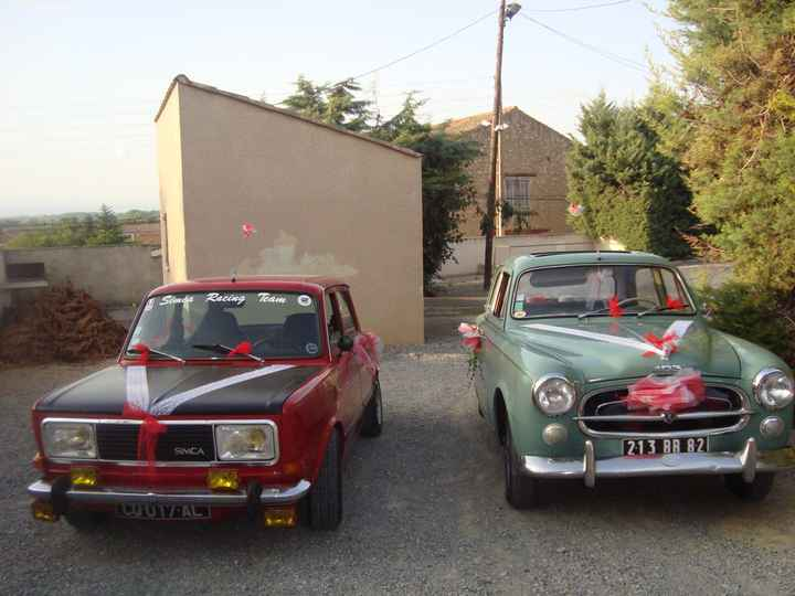 voitures mariés