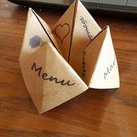 menu papier craft