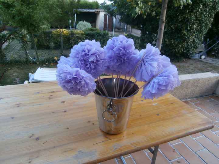 Mes fleurs en serviettes en papier