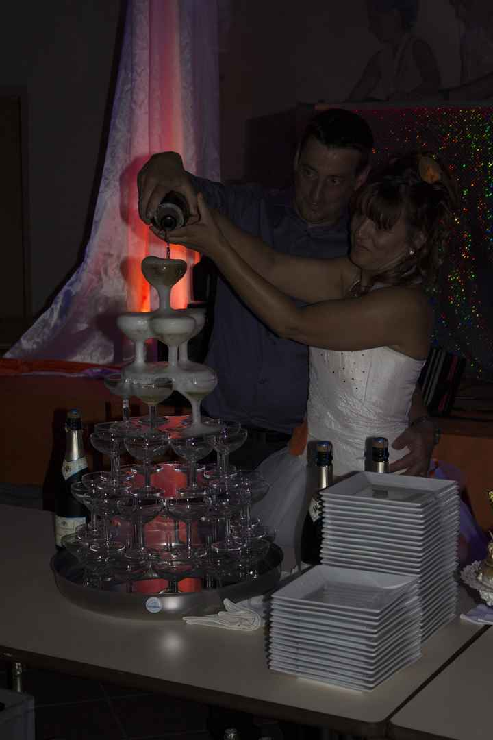 La soirée de notre mariage