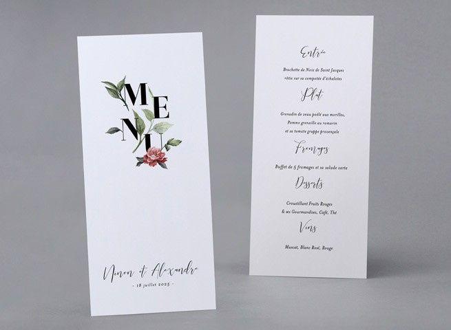 exemple d'affiche de menu
