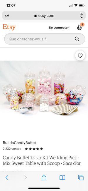 Contenants / bonbonnières pour un candy Bar 1