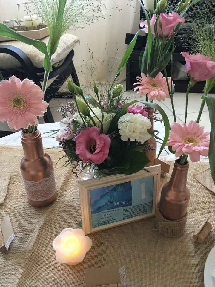 Nouvel essai table avec fleurs - 1
