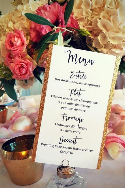 Le menu de ton mariage !  🍽️ 1
