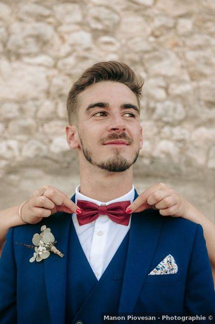 Une touche de couleur pour le costume du marié ? 1