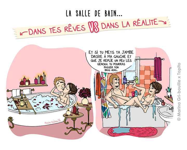 Rêve VS Réalité ... La salle de bain - 1