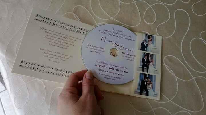 DIY faire-part pochette CD