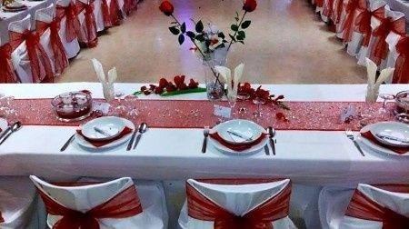decoration mariage rouge et blanc
