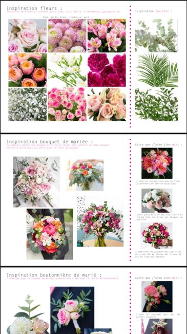 Planches inspirations fleuriste 💐 1