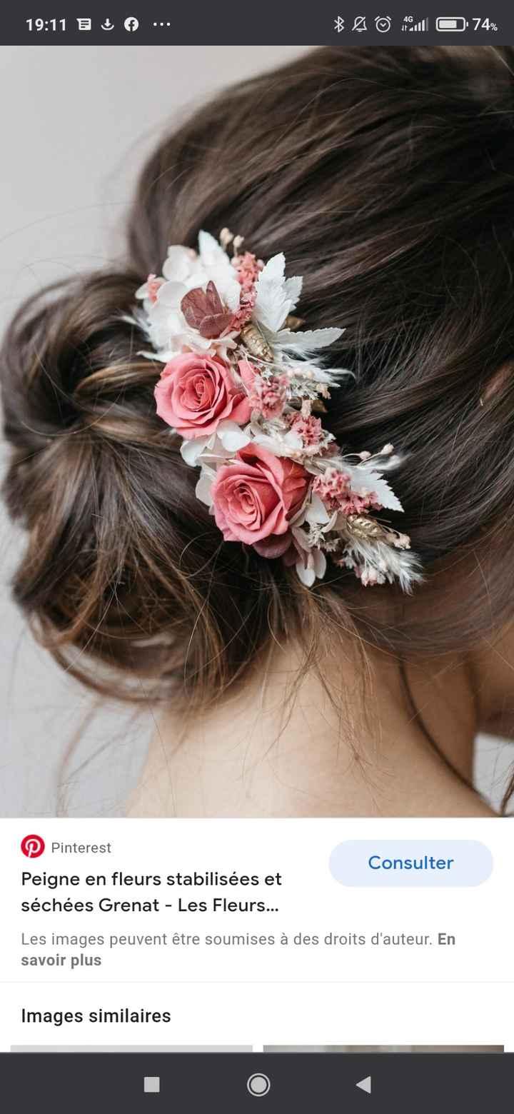 Fleurs dispersées ou couronne de fleurs cheveux ? - 1
