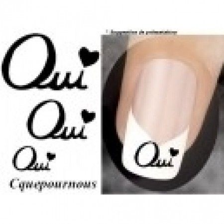 Stickers Ongles OUI