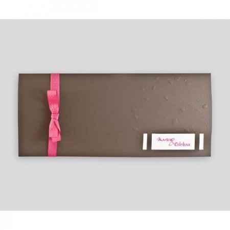 Faire-Part Fuchsia/Chocolat (recto)