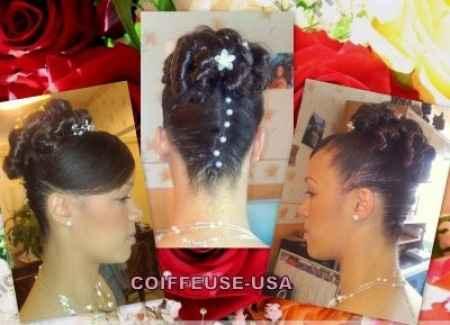 Chignon Mariée Cheveux Afro