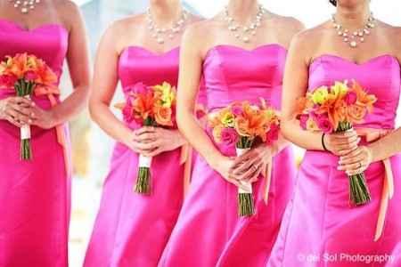 Robes demoiselles d'honneur fuschia