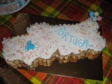 Gâteau carte du Portugal