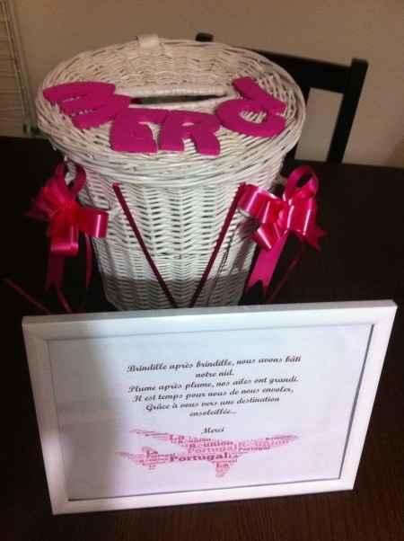 Notre urne montgolfière personnalisée