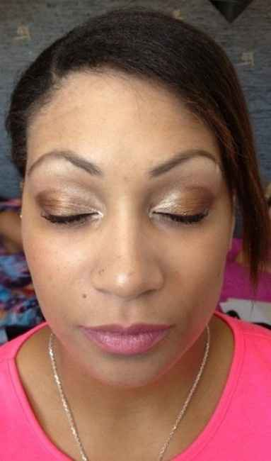 Mon essai maquillage (yeux clos)