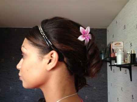 Mon essai coiffure (profil gauche)