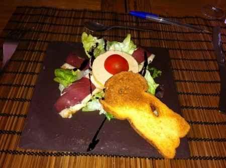 Notre entrée: Salade Gourmande