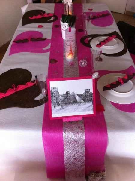 Notre décoration de table (2ème essai)