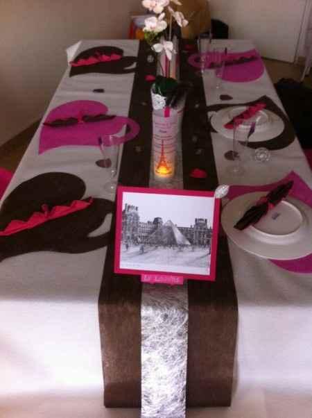 Notre décoration de table (3ème essai)