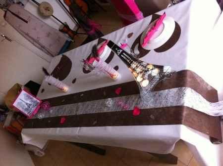 Notre décoration de table d'honneur