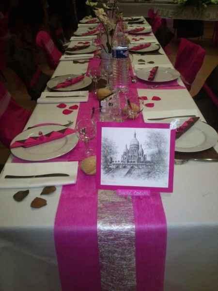 Notre décoration de table le jour J