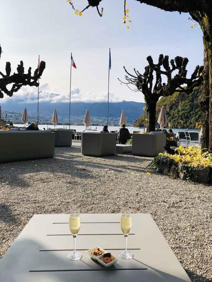 24 octobre 2020, demande en mariage magique face au lac d'Annecy !