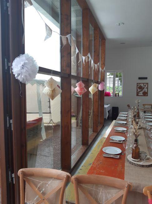 Mon mariage (2ème partie) , cérémonie laïque sous la pluie +deco 1