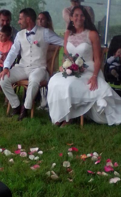 Mon mariage (2ème partie) , cérémonie laïque sous la pluie +deco 24