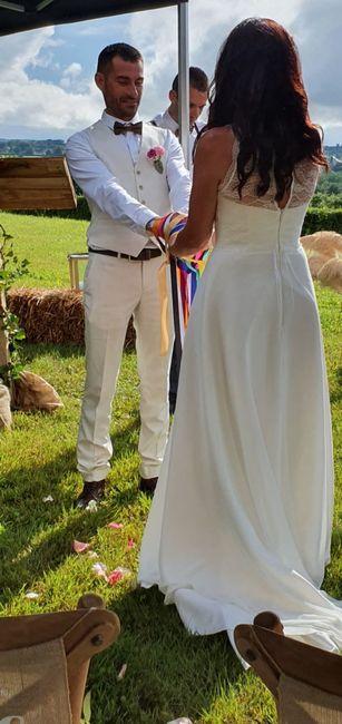 Mon mariage (2ème partie) , cérémonie laïque sous la pluie +deco 27