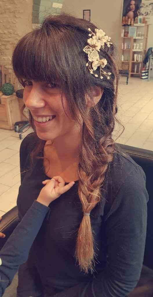 Exemples de coiffures de mariée avec frange - 1