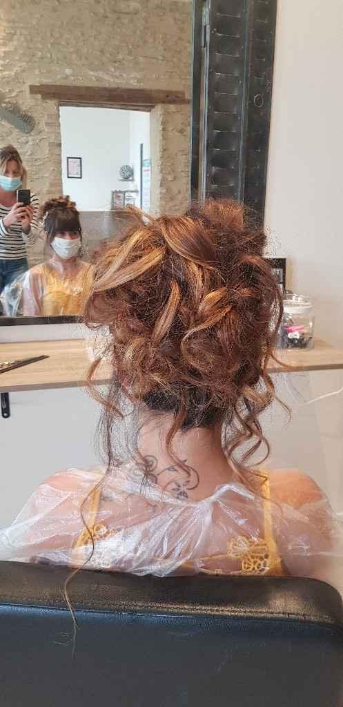 Exemples de coiffures de mariée avec frange - 2