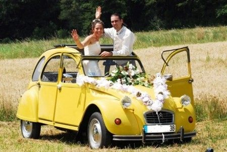 Voiture annul e 18 jours avant le mariage organisation for Decoration 2cv mariage