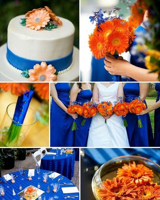 Le Club Du Mariage Orange Et Bleu Decoration Forum Mariages Net
