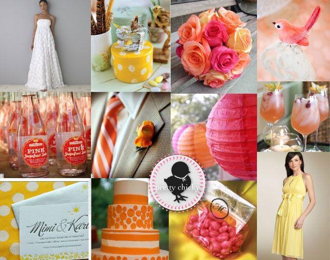 le club du mariage rose framboise orange et jaune d coration forum. Black Bedroom Furniture Sets. Home Design Ideas