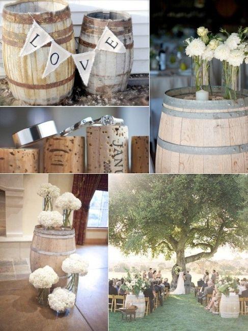 Décorations avec tonneaux de vin