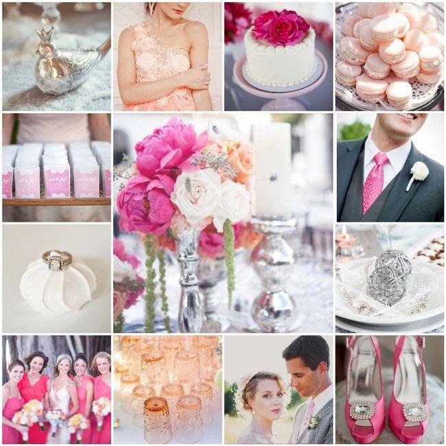 Le club du mariage rose et argent