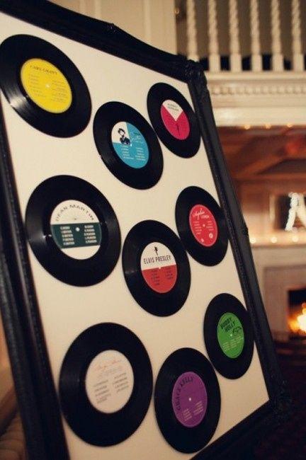 Idée déco de la semaine #13 avec des disques et des cassettes 80's - 6