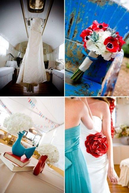 le club du mariage bleu et rouge d coration forum. Black Bedroom Furniture Sets. Home Design Ideas
