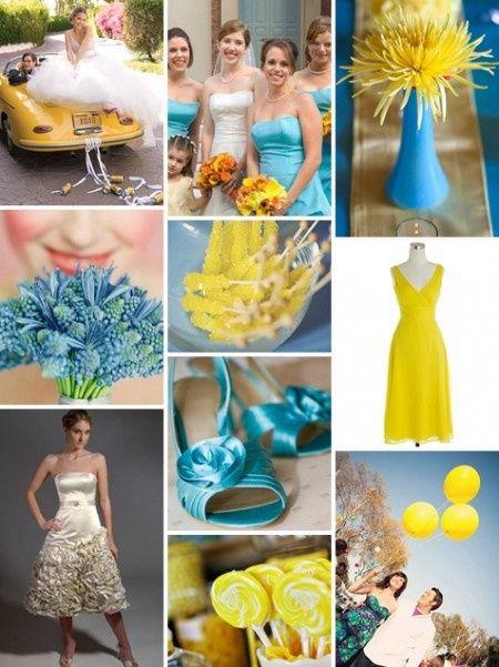 Le club du mariage jaune et bleu