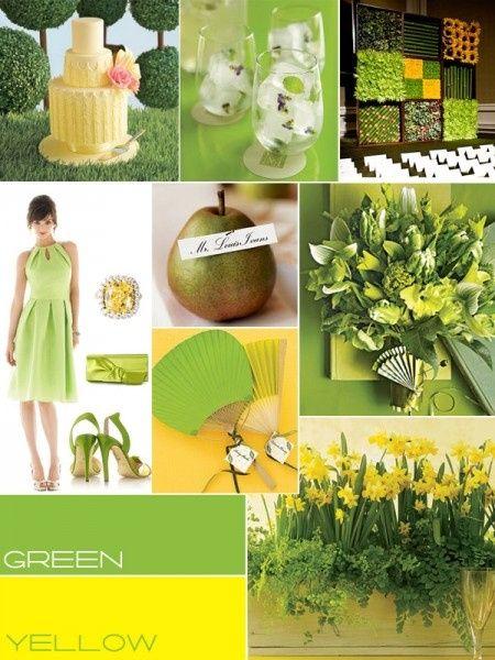 le club du mariage vert et jaune d coration forum. Black Bedroom Furniture Sets. Home Design Ideas